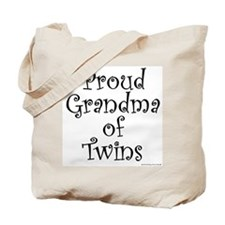 Proud Grandma of Twins Tote Bag