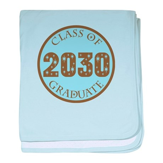 Blue Stars Class of 2030 baby blanket
