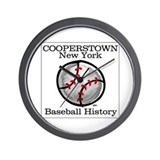 Cooperstown NY Baseball shopp Wall Clock