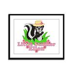 Little Stinker Ellen Framed Panel Print