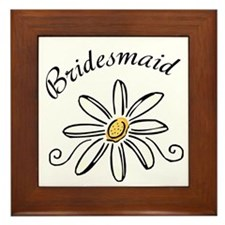 Bridesmaid Daisy Framed Tile
