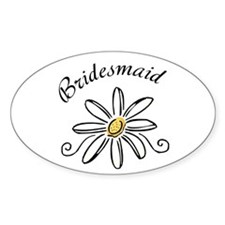 Bridesmaid Daisy Decal