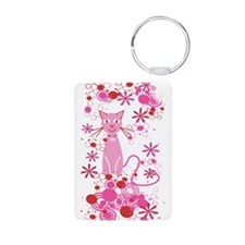 Fancy Pink Cat Keychains