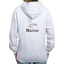 Funny Marine heart Zip Hoodie
