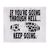 Going Through Hell - Runner Throw Blanket
