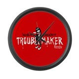 Troublemaker Large Wall Clock