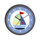 Sail Boat Nautical Wall Clock - Drew