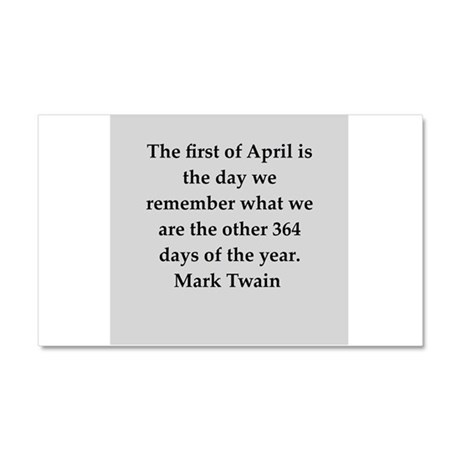 Mark Twain quote Car Magnet 20 x 12
