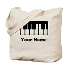 Personalized Piano Keyboard Tote Bag