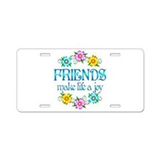 Friendship Joy Aluminum License Plate