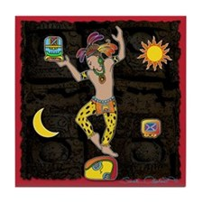 Mayan Jaguar Man Tile Coaster