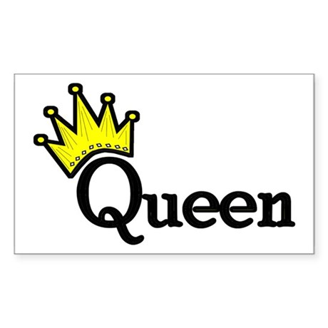 Queen Rectangle Sticker