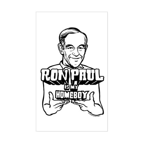 Ron Paul Is My Homeboy Rectangle Sticker