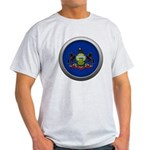 Round Flag - Pennsylvania Light T-Shirt