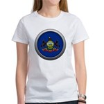 Round Flag - Pennsylvania Women's T-Shirt