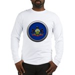 Round Flag - Pennsylvania Long Sleeve T-Shirt