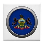 Round Flag - Pennsylvania Tile Coaster