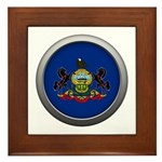 Round Flag - Pennsylvania Framed Tile