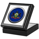 Round Flag - Pennsylvania Keepsake Box