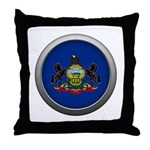 Round Flag - Pennsylvania Throw Pillow