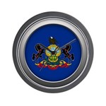 Round Flag - Pennsylvania Wall Clock