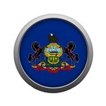 Round Flag - Pennsylvania 3.5