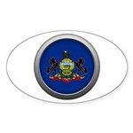 Round Flag - Pennsylvania Oval Sticker (10 pack)