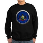 Round Flag - Pennsylvania Dark Sweatshirt (dark)