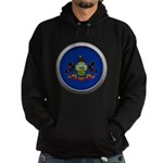 Round Flag - Pennsylvania Dark Hoodie (dark)