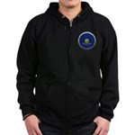 Round Flag - Pennsylvania Dark Zip Hoodie (dark)