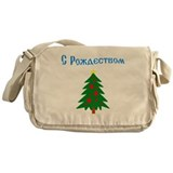 Russian Christmas Tree Messenger Bag