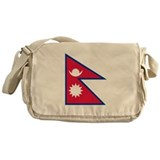 Nepal Flag Messenger Bag
