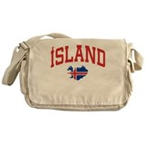 Island Map Messenger Bag