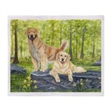 Golden Pair Throw Blanket
