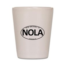 White Oval NOLA Shot Glass