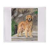 Golden Dock Dog Throw Blanket