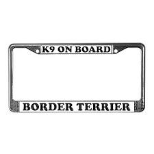 K9 On Board Border Terrier License Plate Frame