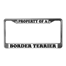 Property Of A Border Terrier License Plate Frame
