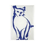 Inky Cat Rectangle Magnet