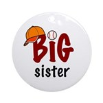 Big Sister - Baseball Ornament (Round)