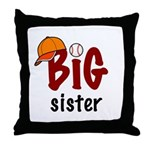 Big Sister - Baseball Throw Pillow