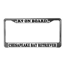 K9 Chesapeake Bay Retriever License Plate Frame