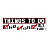 """Things To Do"" Bumper Bumper Sticker"