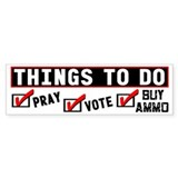 """Things To Do"" Bumper Car Sticker"