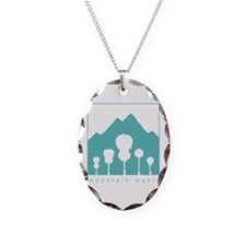 Mountain Music Necklace Oval Charm