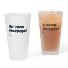 I Procrastinate Drinking Glass