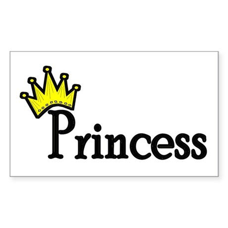 Princess Rectangle Sticker