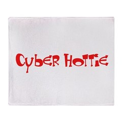 Cyber Hottie Throw Blanket