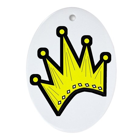 Crown Oval Ornament