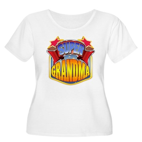 Super Grandma Women's Plus Size Scoop Neck T-Shirt